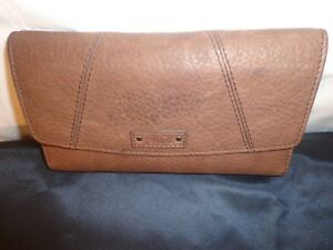 Fossil Women Genuine Leather Outer Dark Brown Biifold Wallet