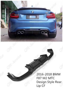 Carbon MTC Design Style Rear Lip Diffuser Kit For 2016-2018 BMW F87 M2 M2C
