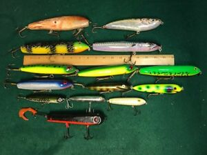 Grab BagBox of (14) Walk the DogGlide Style MuskyPikeBass LuresBaits