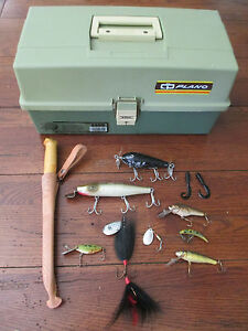 Plano 6300 Fishing Tackle Box Finland Fillet Knife & Misc. Lures Equip Bundle