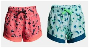 New Under Armour Girls Sprint Printed Athletic Shorts MSRP $30.00 Chose Size