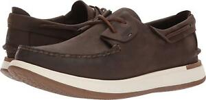 Mens Sperry Caspian Leather Boat Shoes STS17430 Size 11.5 Brown $109.95