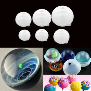 Silicone Jewelry Mould Resin Round Ball DIY Pendant Mold Making Craft Tool