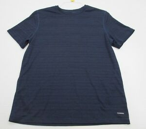 CHAMPION #T4770 Men's Size L Athletic DUO-DRY FITNESS Short Sleeve Blue Shirt