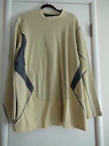 Nike Dri-Fit Hyperwarm Fitted Thermal Fitted Shirt Team Gold Sz XL