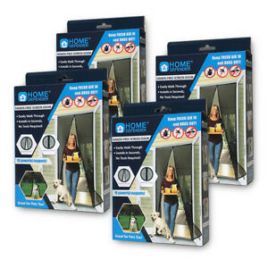 4 PACK 83quot; X 39quot; Magic Mesh Hands Free Screen Door magnets KEEP BUGS OUT