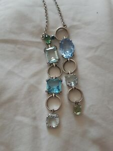Genuine Swarovski Silver & Crystal Necklace Earring and Bracelet Set
