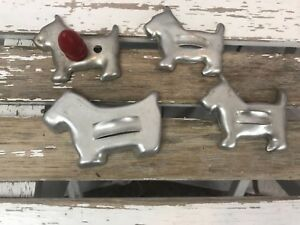 Holiday Christmas Autumn Scotty Dog Shaped Cookie Cutters 2 Sizes Small Large