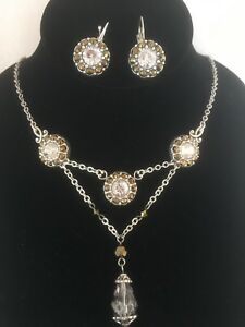 Elegant Brighton Crystal Necklace and Earring Set