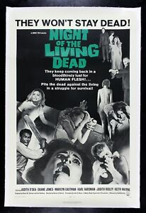NIGHT OF THE LIVING DEAD ✯ CineMasterpieces 1968 ZOMBIE HORROR MOVIE POSTER