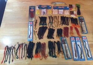 Vintage Fishing Lures Jelly Worms Mister Twisters Auger Tails Bombers