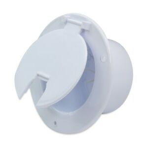 Polar White Round Electric Cable Hatch Back RV Camper Trailer Parts Home 5W