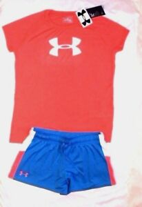 ~GIRL'S UNDER ARMOUR SHORTS & TOP LOOSEDRI-FIT YOUTH X-LARGE 18-20 NEW wt TAGS