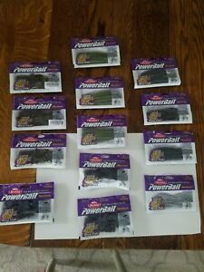 13 bags of Berkeley powerbait soft plastic fishing lures  bait