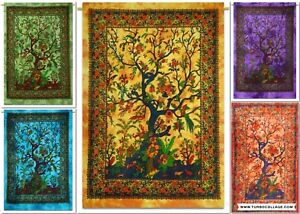 Tree Of Life Psychedelic Tapestry Wall Hanging Throw Indian Boho Art Dry Tree