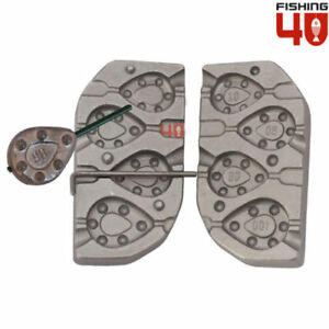 InLine Flat Grip 708090100g Lead Weight Mould Ideal for CarpLedgeringRiver