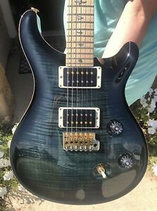 PRS Custom 24 10 Top Flamed Maple Neck Wood Green USA