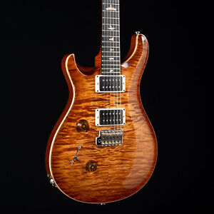 PRS Custom 24 Lefty 10 Top Stained Flame Maple Neck Copperhead Burst 5389