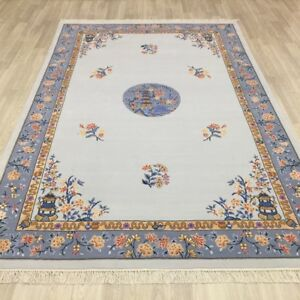 YILONG 6'x9' Handmade Chinese Art Deco Wool Carpet Interior Design Area Rug
