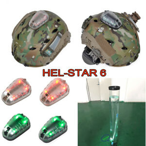 HEL-STAR 6 Strobe Lamp Tactical Safety Survival Helmet Light Waterproof light