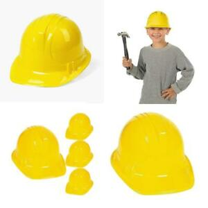 Plastic Construction Party Hats For Child Pack Of 48