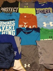 Lot 12 Boy's Under Armour  Nike + T-Shirts & Athletic Shorts  YLG Large 1416