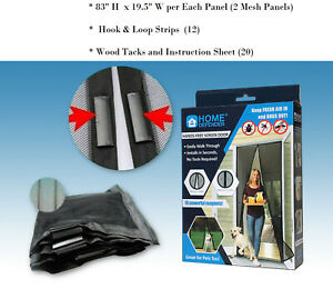 Magic Mesh Hands-Free Screen Door magnets AS SEEN ON TV KEEP BUGS OUT