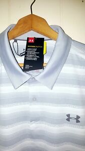 Under Armour Golf Polo Shirt Men 2XL NEW $74.99 Grey