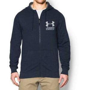 Under Armour Mens UA Sportstyle Fleece Hoodie Small Midnight Navy