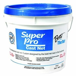 Betts 7-Feet Mono Bait Cast Net with Lead Weight and 14-Inch Mesh