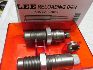 [HS735C] Lee 7.35 Carcano  2 dies reloading with shell holder