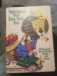1968 GOLDEN BOOK RICHARD SCARRY'S BEST STORY BOOK EVER HARD COVER BOOK