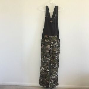 NEW Under Armour Womens Hunting Stealth Bib Overalls Camo Sz M (1282692)