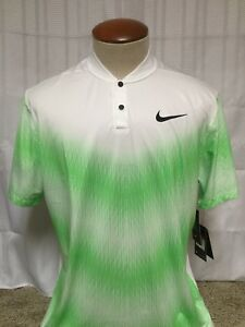 Nike Tiger Woods TW Engineered Dry Fit Men's Golf Polo Shirt Green Large J264