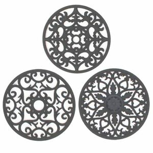 IPHOX 3 Set Silicone Multi-Use Intricately Carved Trivet Mat for Hot Dishes