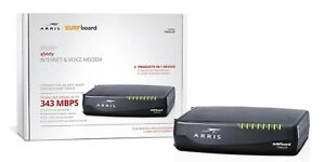 Arris Cable Modem Telephony Surfboard Docsis 3.0 High Speed Internet Voice Black