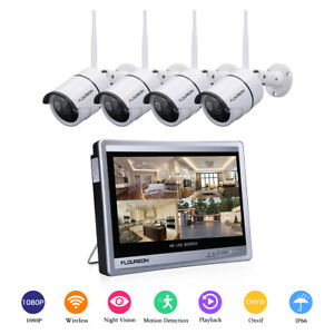 8CH 4CH 1080P HD WirelessWired DVR Kit CCTV Home Security Camera System IR-CUT