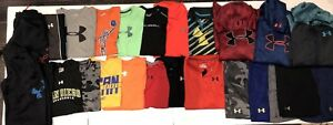 Youth Boys Lot Of Under Armour Hoodies Pants Shorts LXL