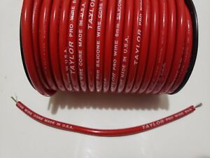 8mm RED silicone Pro WIRE CORE SPARK PLUG WIRE TAYLOR by the foot 0 ohms ft $2.30