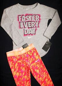 ~~GIRL'S NIKE LEGGINGS & T-SHIRT SIZE 6-X...DRI-FIT & COTTON...NEW wt TAGS!~~