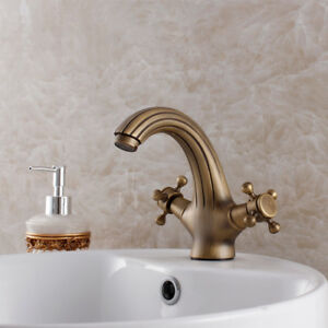 Brio Antique Bronze Bathroom Basin Faucet Roma Style Vintage Solid Brass