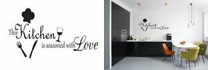 This Kitchen is Seasoned with Love Vinyl Wall Decal Quotes Stickers...
