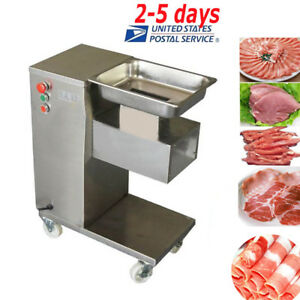 Stainless Commercial Meat Slicer Meat Cutting Machine Cutter 500kgH USA UPS