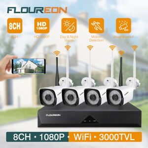 8CH 4CH 1080P HD DVR + CCTV Cameras WirelessWired Home Security System Kit IR
