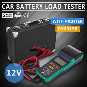 Battery Tester for 12V Lead-Acid Battery With Printer HQ Load LCD NEW GENERATION