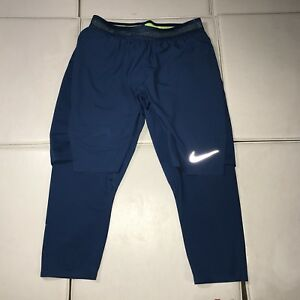 B6 $125 Nike AeroSwift Men's Size Small 2-in-1 Running ShortsTights 852321-457