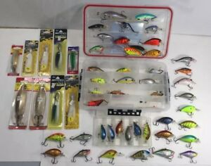 HUGE LOT 55pc FISHING LURES - RAPALA - BAIT BALL - STORM - SPRO