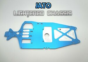 Traxxas Jato RC 2.5 & 3.3  lightened Drag performance racing Chassis Blue