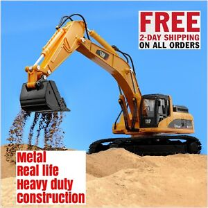 Metal Construction kids Toy Heavy Duty Excavator Real life replica di