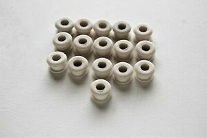 HUNTER VINTAGE ORIGINAL CEILING FAN NEW PARTS - 16 NEW RUBBER GROMMETS IN WHITE